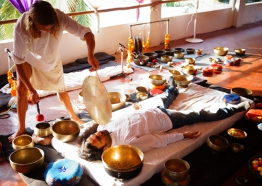 Learn how to give sound bath healing with Tibetan Singing Bowls