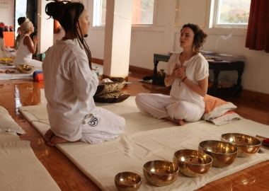 Sound Healing Students Teaching India 3