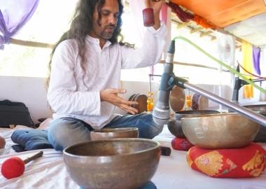 Tibetan Singing Bowls Healing Training India