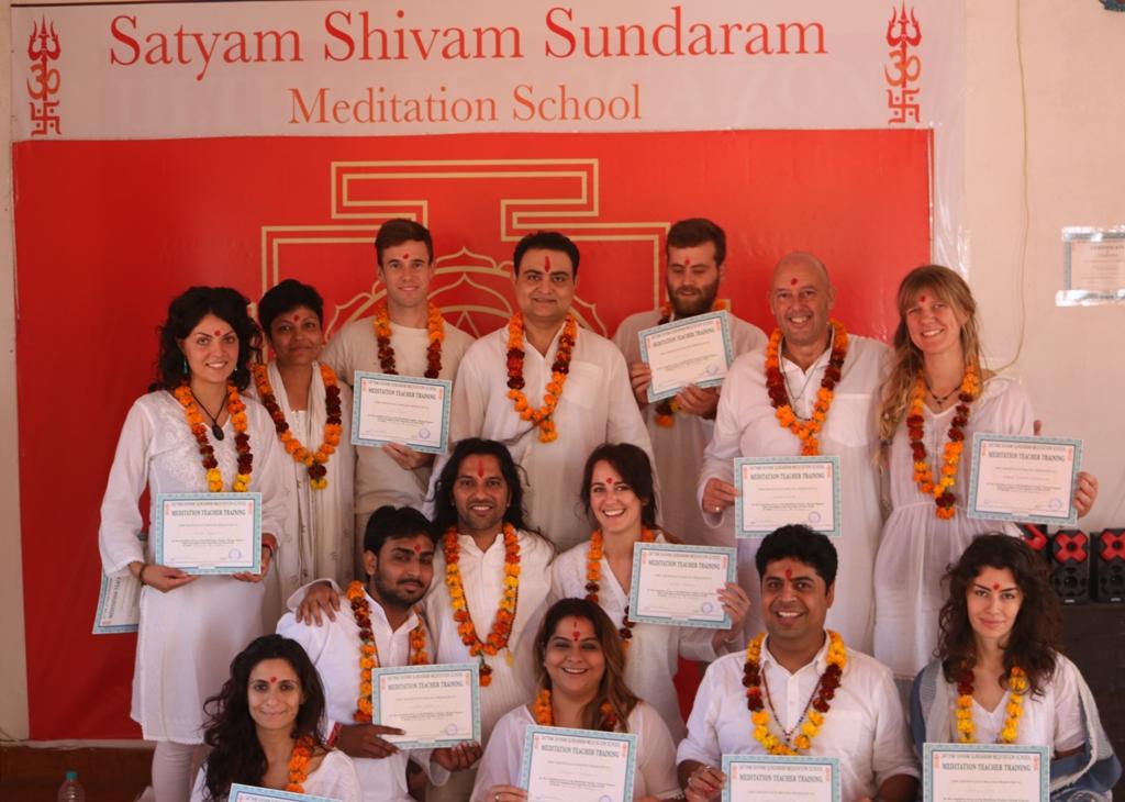 last day of the 10-Day Meditation Teacher Training at Satyam Shivam Sundaram Meditation School in Rishikesh, India