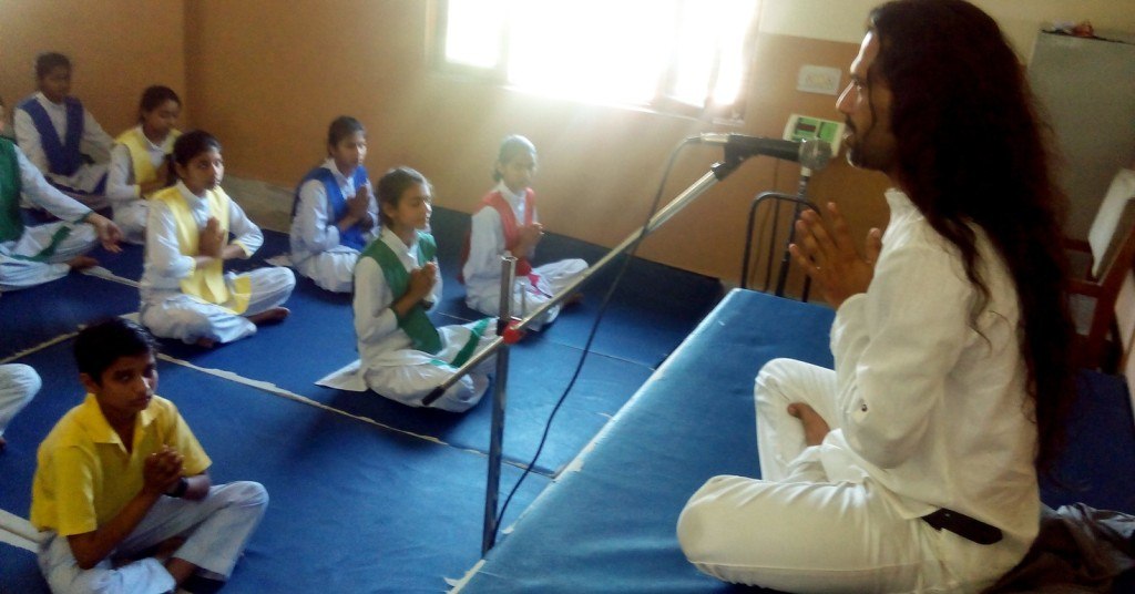 Meditation Classes School Childrens In India
