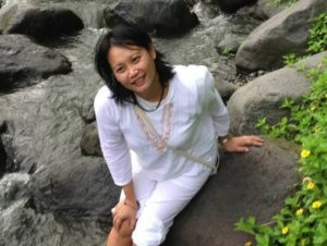 Nicole Yoga meditation student