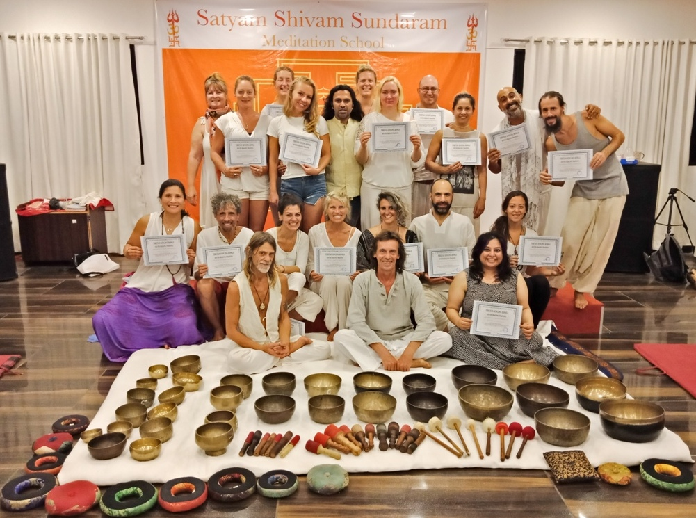 Tibetan Singing Bowls Teachers Teacher Training,Master Level Sound Healing Therapist Training India