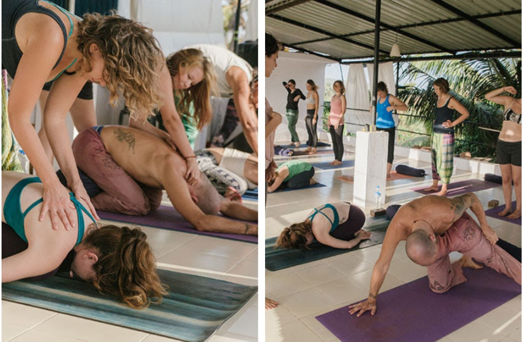 practice session Yin Meridians Yoga Therapy Yoga Teacher Training Goa India